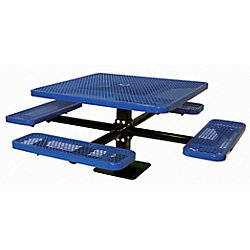 UltraSite 46-inch Commercial Square Surface-Mount Table in Blue