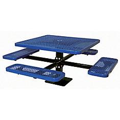 Table carré de 46po, pouvant être installé sur une surface- Bleu