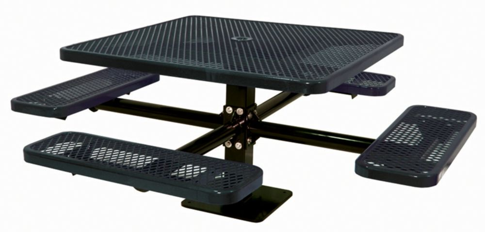 46 inch Commercial Square Table, Surface Mount- Black