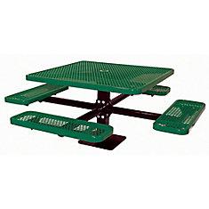 Table carré de 46po, pouvant être installé sur une surface- Vert