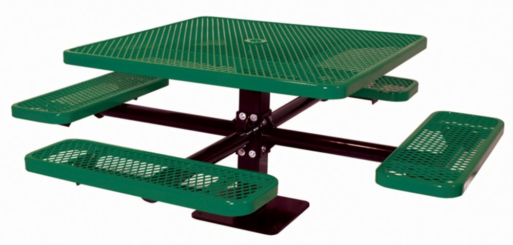 46 inch Commercial Square Table, Surface Mount- Green