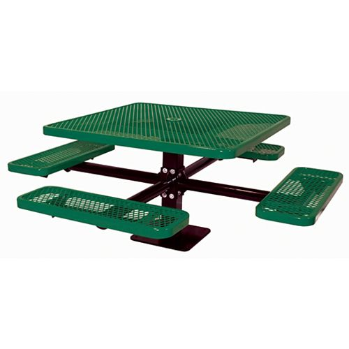 UltraSite 46-inch Commercial Square Surface-Mount Table in Green