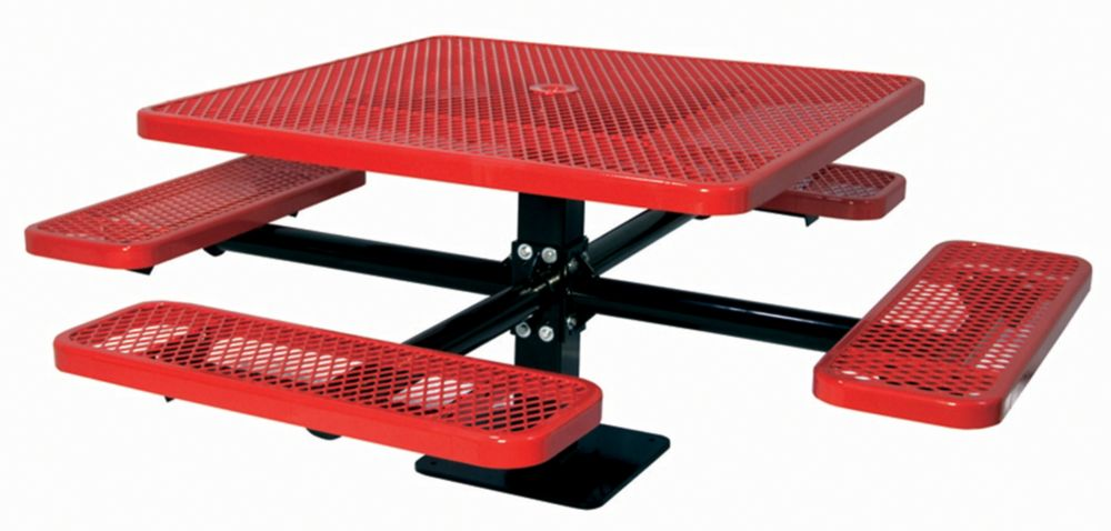 46 inch Commercial Square Table, Surface Mount- Red