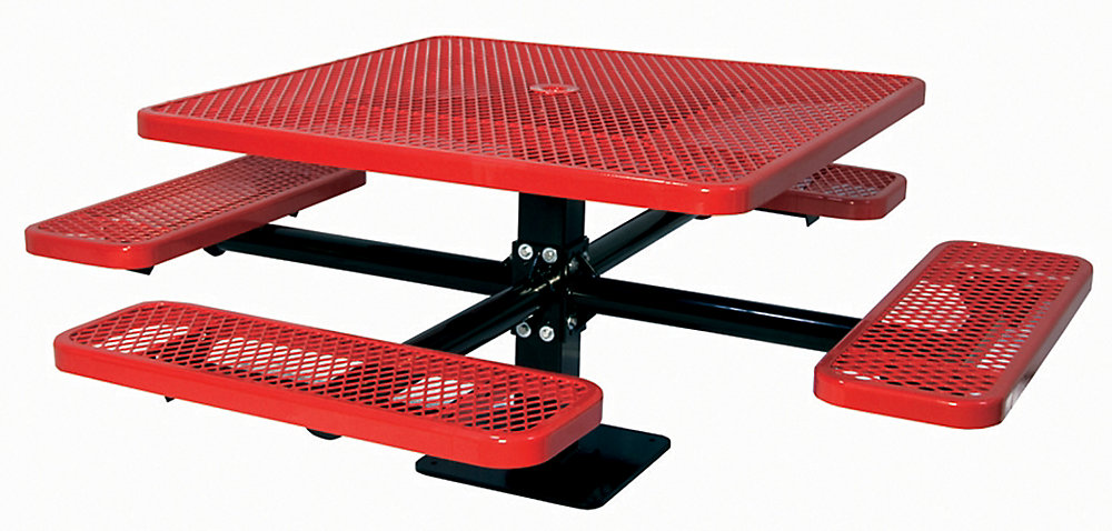 46-inch Commercial Square Surface-Mount Table in Red