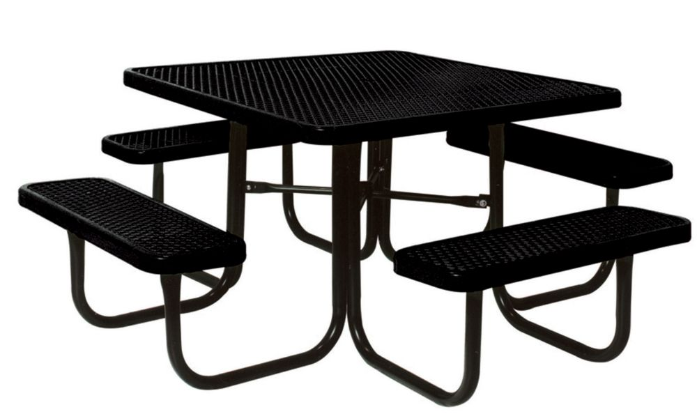 46 inch Commercial Square Table- Black