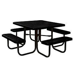 Table carré de 46po- Noir
