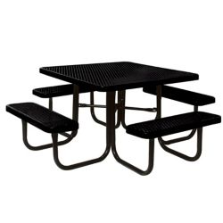 UltraSite 46-inch Black Diamond Commercial Park Square Portable Table
