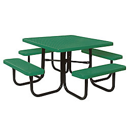 UltraSite 4 ft. Diamond Green Commercial Park Square Table