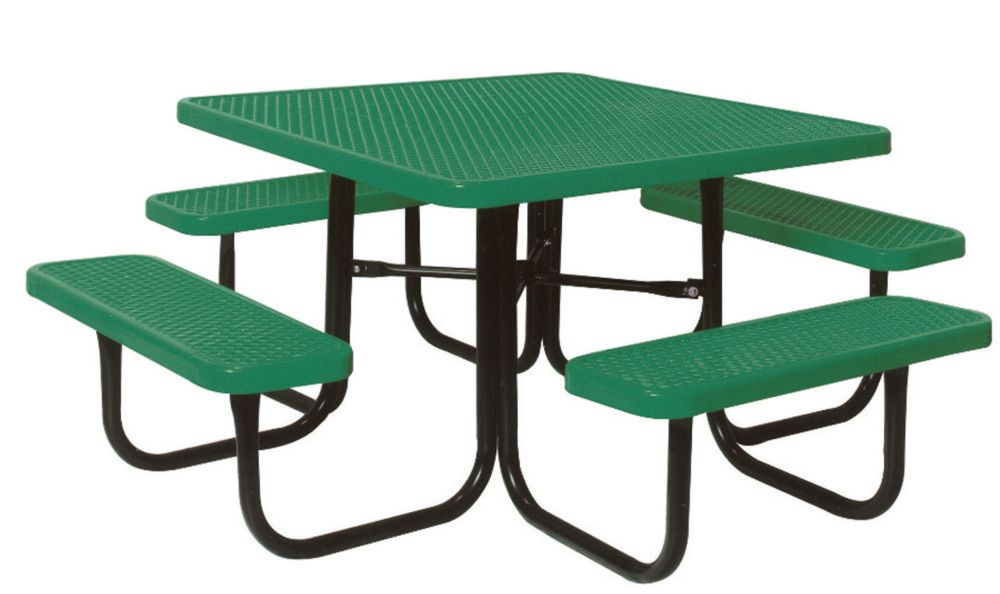 UltraSite 4 ft. Diamond Green Commercial Park Square Table