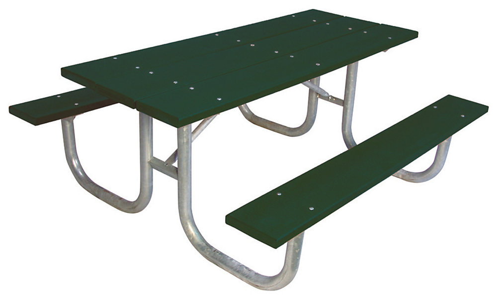 6 ft. Commercial Recycled Plastic Table in Green