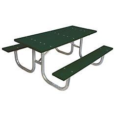 Table rectangulaire de 6pi fait de plastique recyclé- Vert