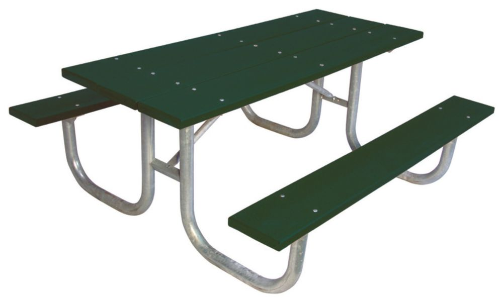 6 ft Commercial Recycled Plastic Table- Green