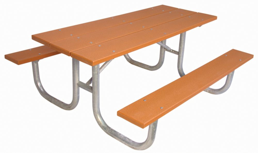 6 ft Commercial Recycled Plastic Table- Cedar
