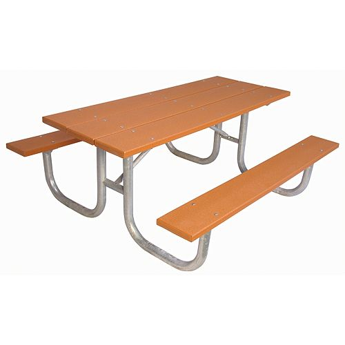 UltraSite 6 ft. Commercial Recycled Plastic Table in Cedar