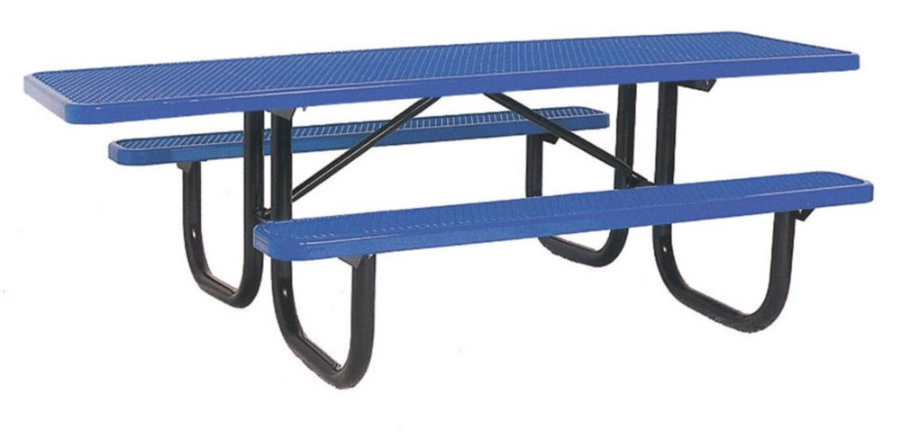 8' Double Sided Extra Heavy Duty Commercial ADA Table- Blue