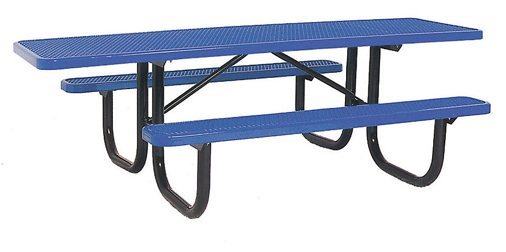 8 ft. Double Sided Extra Heavy Duty Commercial ADA Table in Blue