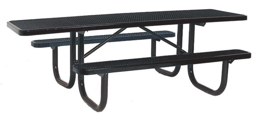 8 ft. Double Sided Extra Heavy Duty Commercial ADA Table in Black