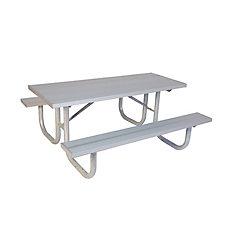 Table DE PARC DE 8PI EN ALUMINIUM