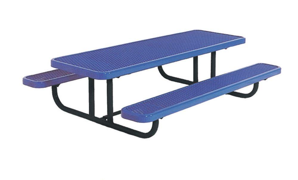 8' Commercial Preschool Rectangular Table, Portable- Blue