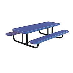 Table rectangulaire de 8pi pour enfants dâge préscolaire, portative, en forme de losanges- Bleu