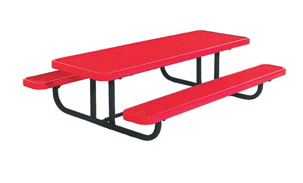 Table rectangulaire de 8pi pour enfants dâge préscolaire, portative, en forme de losanges- Rouge