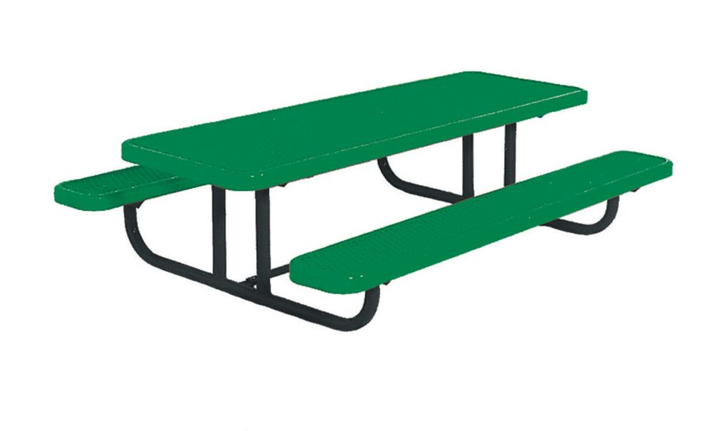 8' Commercial Preschool Rectangular Table, Portable- Green PBK158PS-V6G Canada Discount