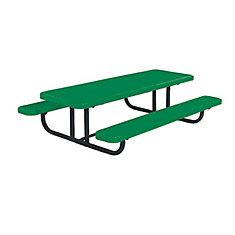 Table rectangulaire de 8pi pour enfants dâge préscolaire, portative, en forme de losanges- Vert