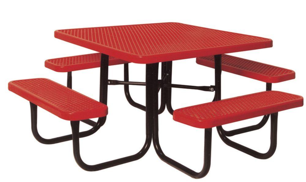 Table carré de 46po- Rouge