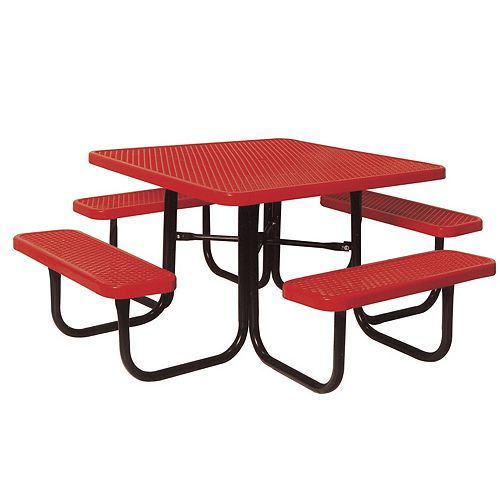 UltraSite 46-inch Diamond Red Commercial Park Portable Square Table
