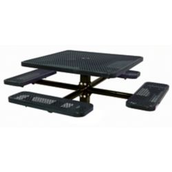 UltraSite 46-inch Commercial Square In-Ground Table in Black