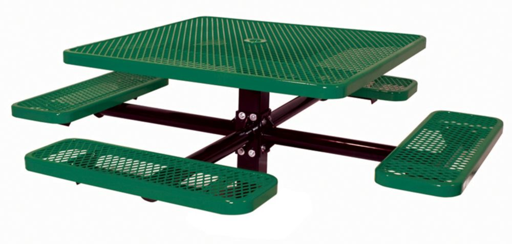 46 inch Commercial Square Table, In Ground- Green