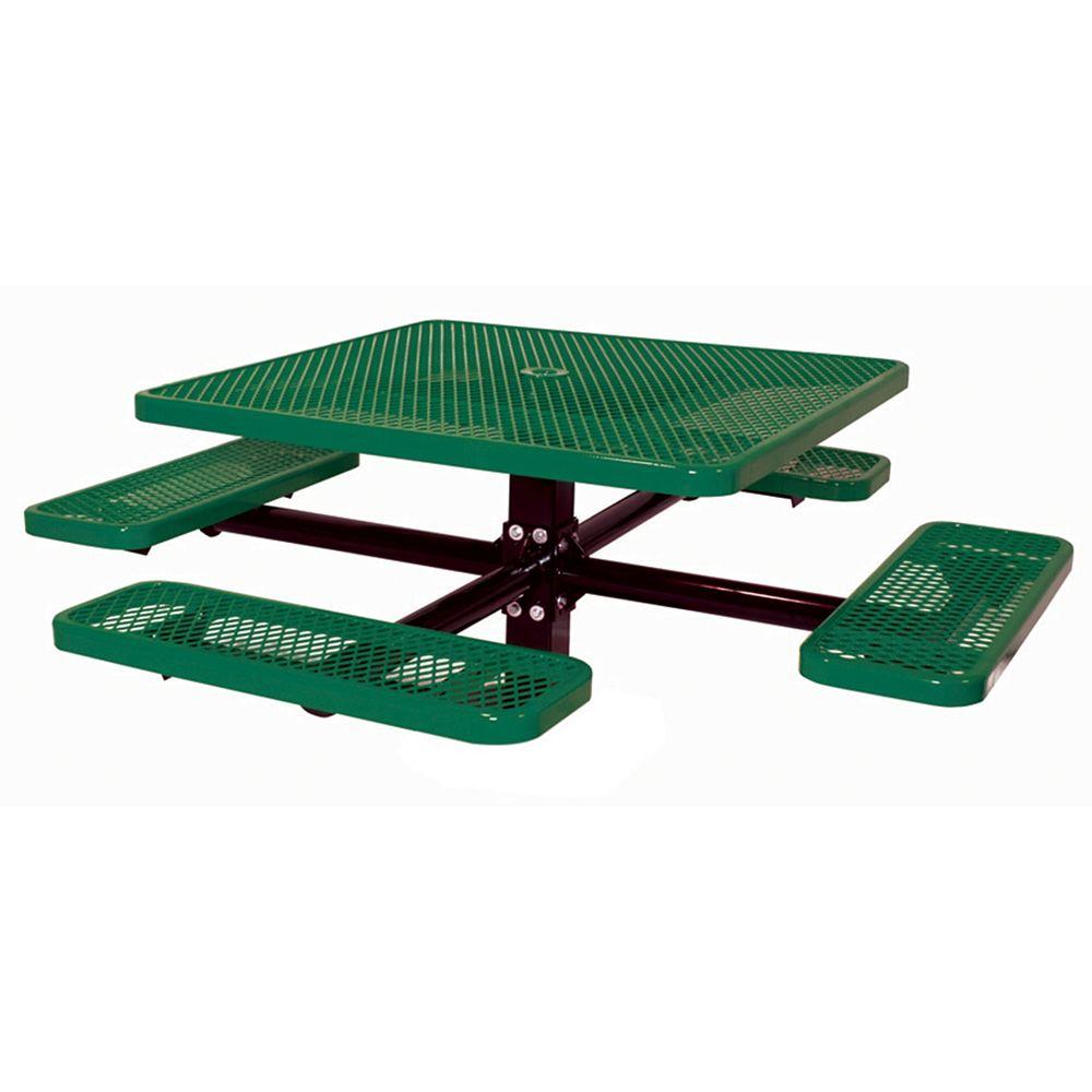 UltraSite Table carré de 46po, pouvant être ancré dans le sol- Vert