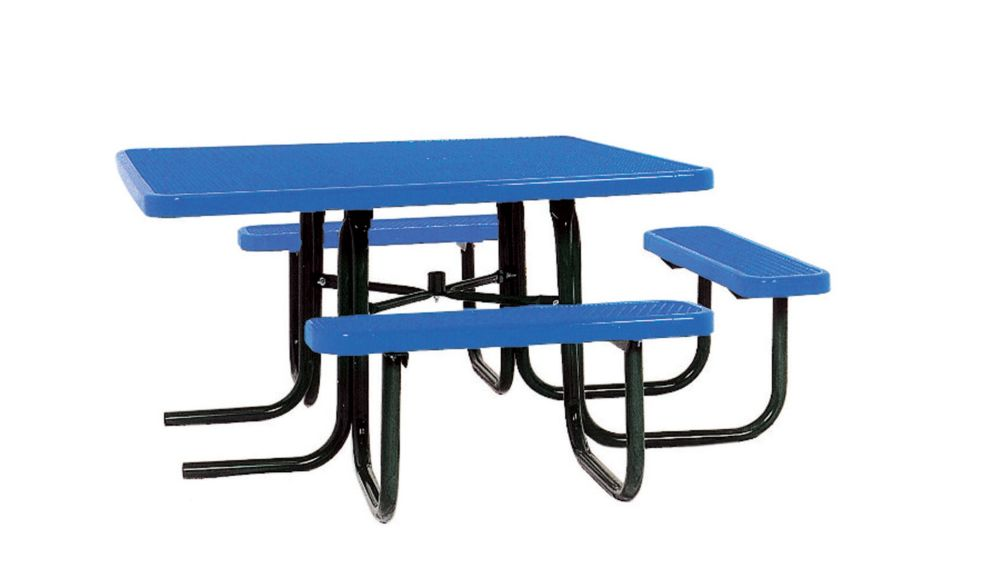 46 inch ADA Commercial Square Table- Blue PBK358H-VB Canada Discount