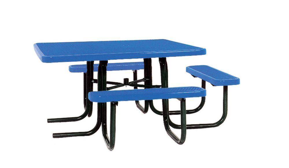 Table carrée de 46po répondant aux normes de lADA- Bleu