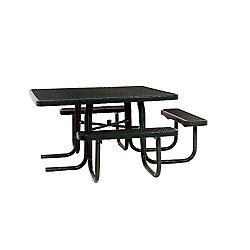 UltraSite 46-inch ADA Commercial Square Table in Black