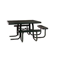 Table carrée de 46po répondant aux normes de lADA- Noir