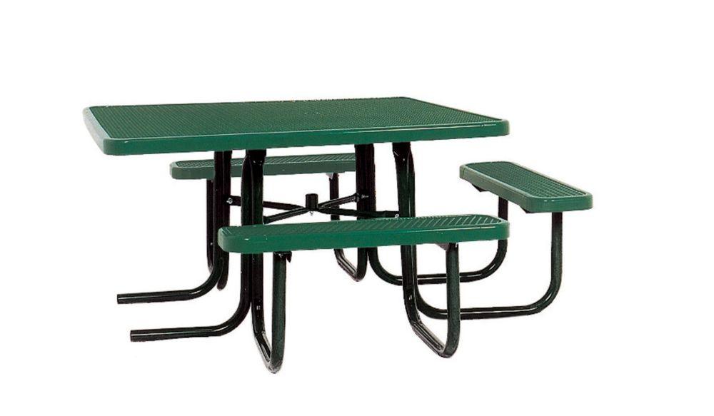 Table carrée de 46po répondant aux normes de lADA- Vert