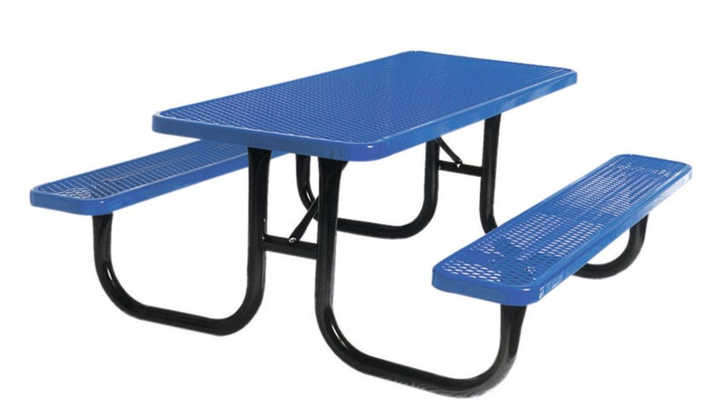 6 ft Commercial Rectangular Table- Blue