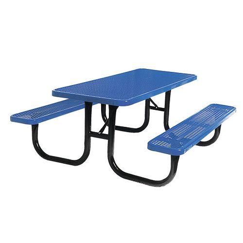 UltraSite 6 ft. Diamond Blue Commercial Park Rectangular Table Portable