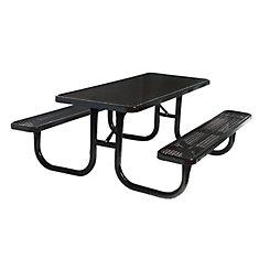 Table rectangulaire de 6pi- Noir
