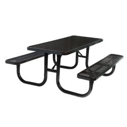 UltraSite 6 ft. Diamond Black Commercial Park Rectangular Portable Table