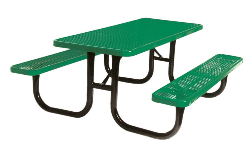 UltraSite  Table rectangulaire de 6pi- Vert