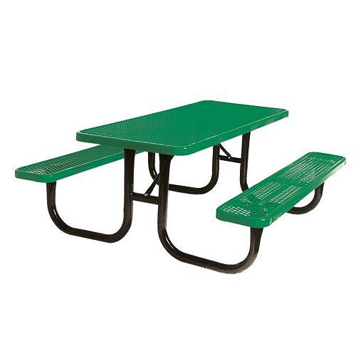 UltraSite 6 ft. Diamond Green Commercial Park Portable Rectangular Table