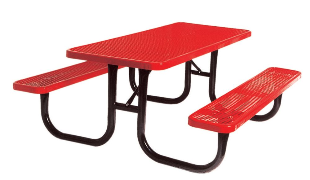 6 ft Commercial Rectangular Table- Red