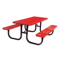 UltraSite 6 ft. Red Diamond Commercial Park Rectangular Portable Table