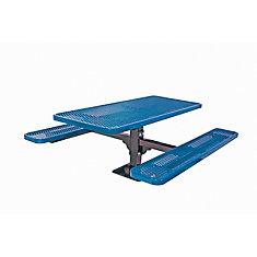 Table rectangulaire de 6pi, pouvant être installé sur une surface- Bleu