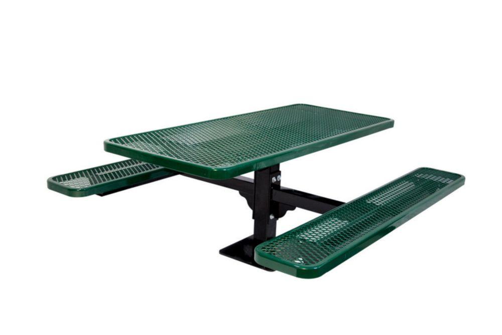 Table rectangulaire de 6pi, pouvant être installé sur une surface- Vert