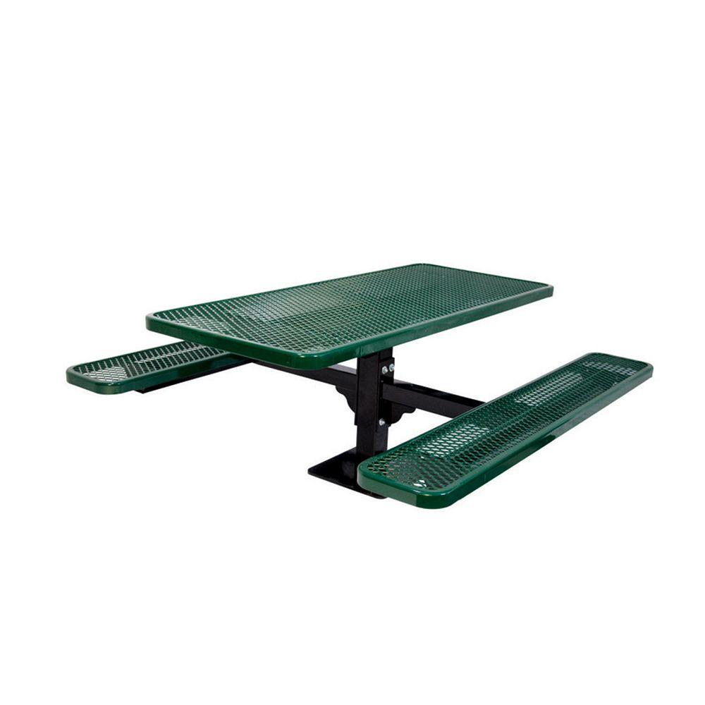 UltraSite 6 ft. Commercial Rectangular Surface-Mount Table in Green