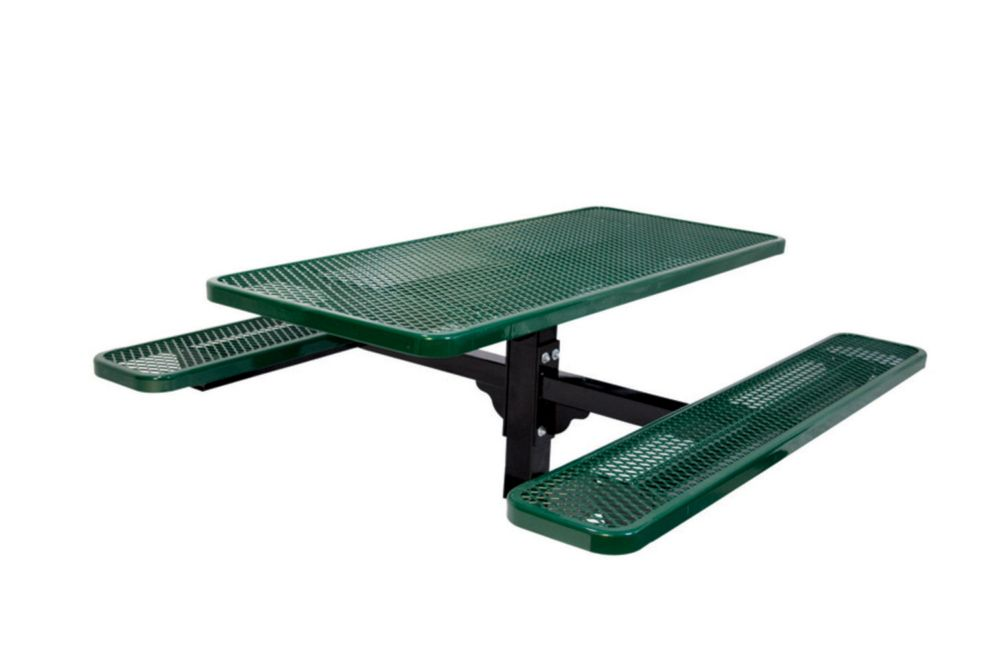 6 ft Commercial Rectangular Table, In Ground- Green