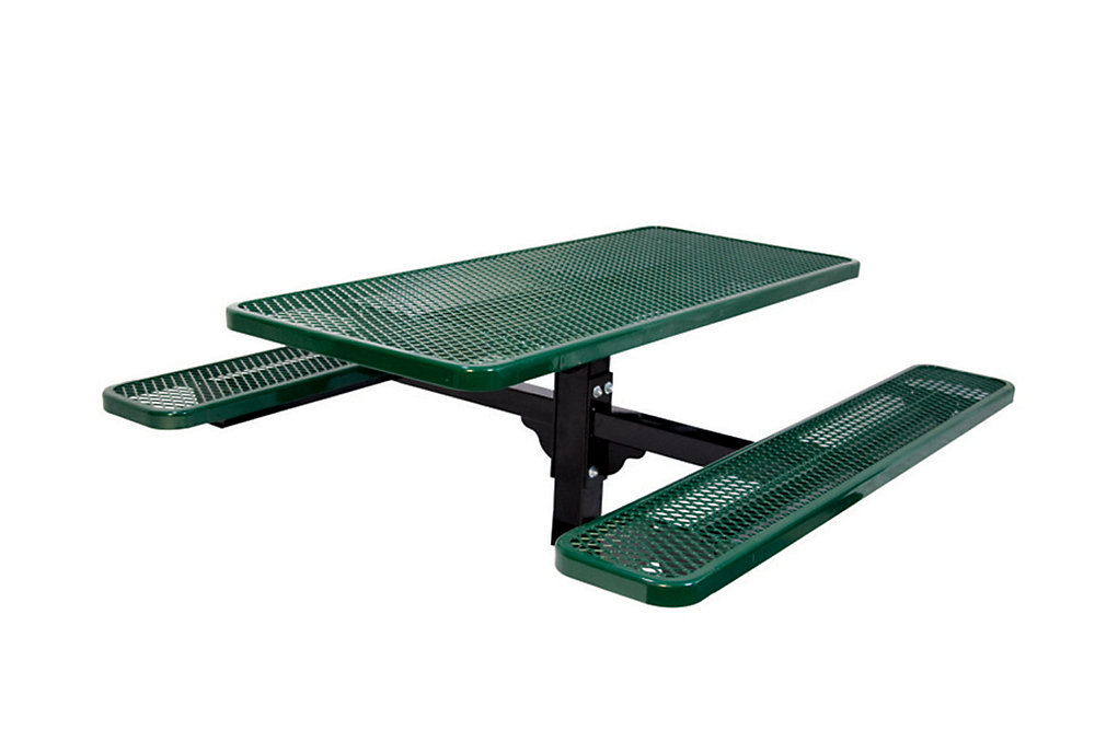 6 ft. Commercial Rectangular In-Ground Table in Green
